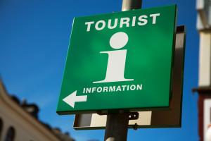 Skylt för turistinformation
