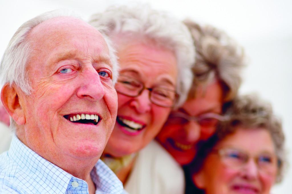 Glada pensionärer