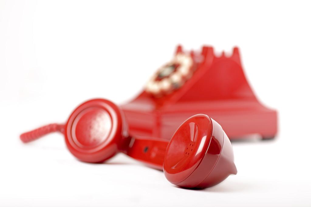 Röd telefon