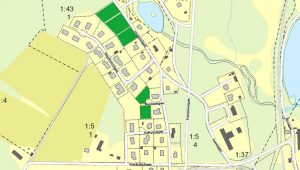 Karta över lediga tomter i Ambjörnarp
