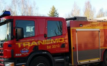 Brandbil från räddningsjänsten i Tranemo