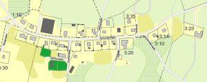 Karta över lediga tomter i Hulared