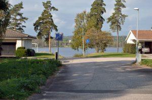 Utsikt från ledig tomt i Dalstorp