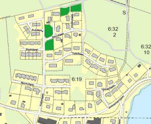 Karta över lediga tomter i Ljungsarp