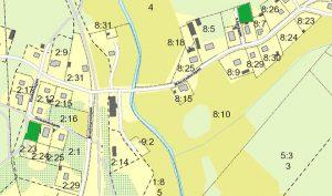 Karta över lediga tomter i Månstad