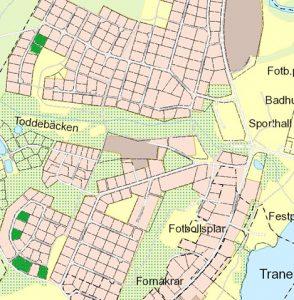 Karta över fler lediga tomter i Tranemo