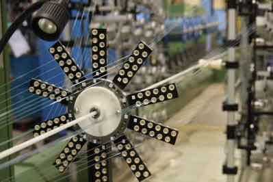 Fibertillverkning på Nexans fabrik i Grimsås