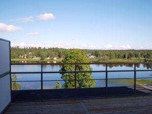 Utsikt över Tranemosjön från bostadsrättsföreningen Tranemo Park