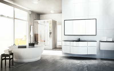 Ett badrum från Svedbergs i Dalstorp