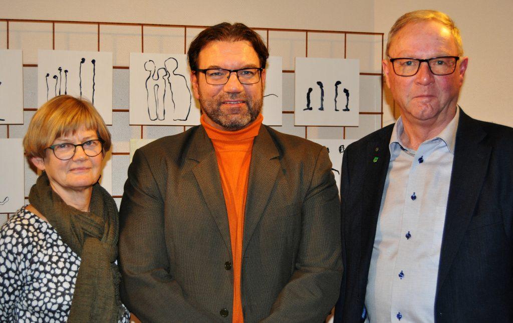 Kommunstyrelsens arbetsutskott - Eva-Karin Haglund, Tony Hansen och Crister Persson