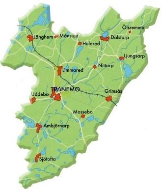 Karta Tranemo kommun