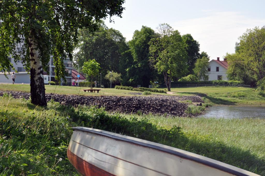 Båt vid Tranemosjön