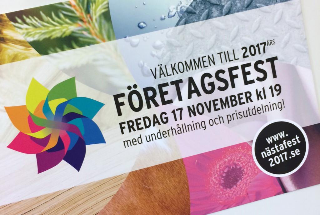inbjudan företagsfest 2017