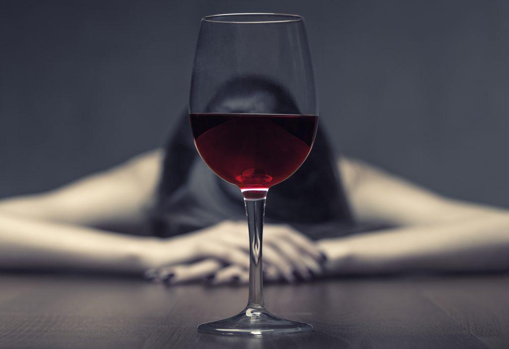vin, missbruk, depression