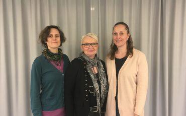 Caroline Bergmann (MP), Rose Torkelsson (S) och Cecilia Valbrant (C)