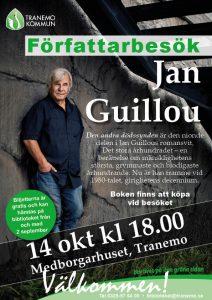 Affisch Jan Guillou kommer till Tranemo