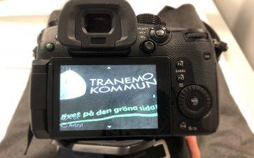 kamera som visar Tranemo kommuns logga