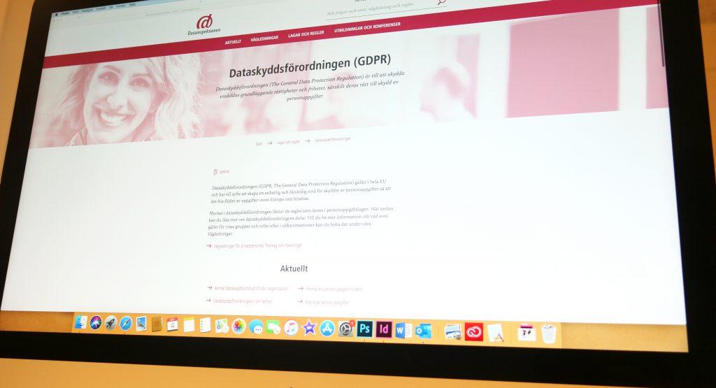 Skärmbild på en dator