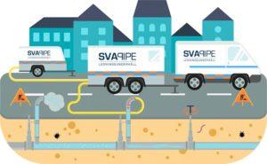 Luft-vattenspolning av dricksvattenledningar