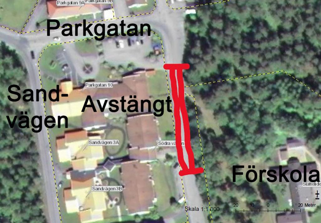 Karta över vägar i Limmared.