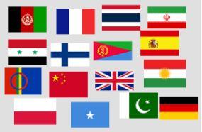 Flaggor från olika länder
