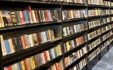 Böcker i bokhyllor