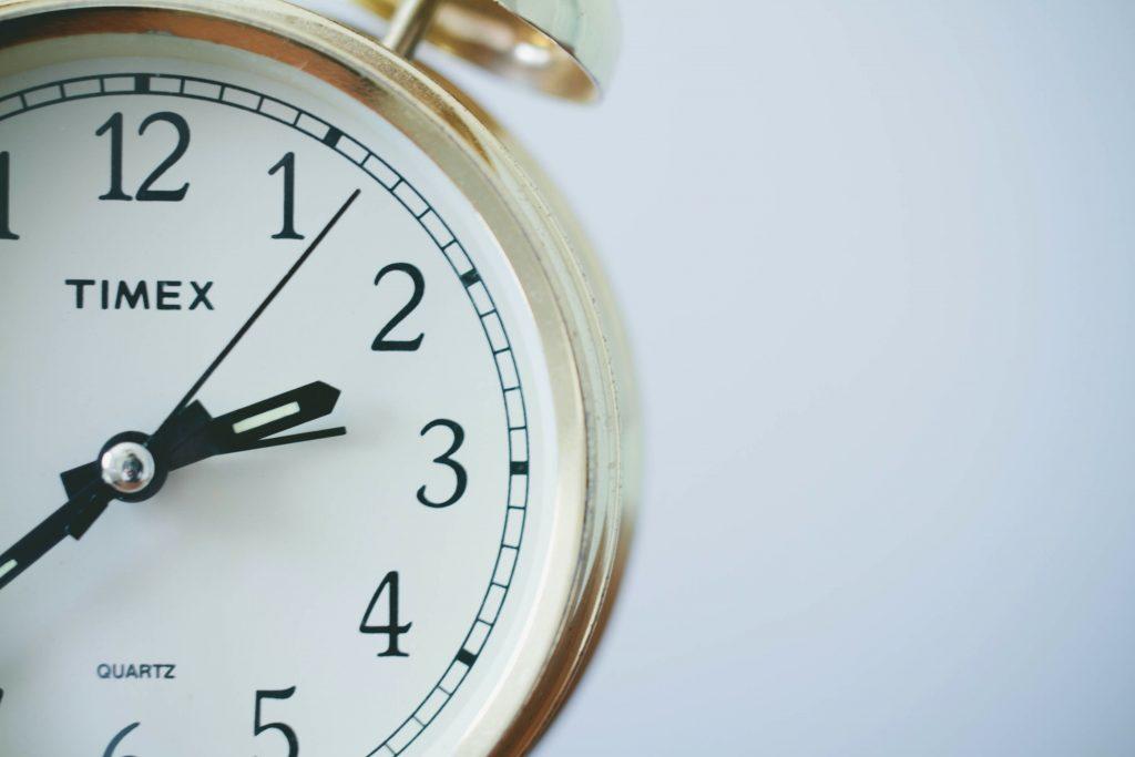 Urtavla på väckarklocka