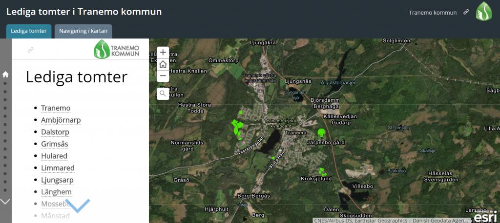 Skärmdump av en karta
