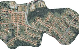 Karta över det område som fjärrvärmen kommer att vara avstängd för