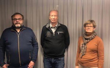 Lennart Haglund, Anders Brolin och Eva-Karin Haglund