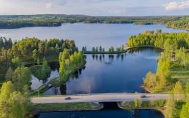 Drönarbild över Dalstorpssjön