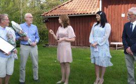 Utdelning av pris i samband med Sveriges Nationaldag