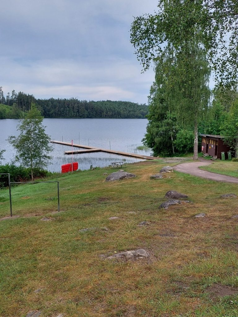 Badplats vid Visen