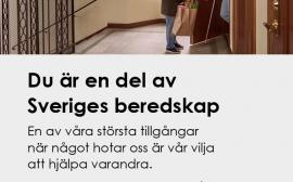 Du är en del av Sveriges beredskap